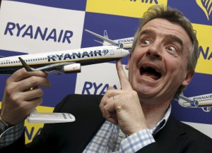Ryanair CEO Michael O'Leary poses for the media